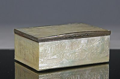Finely Carved Antique Chinese China Trade Mother Of Pearl Box