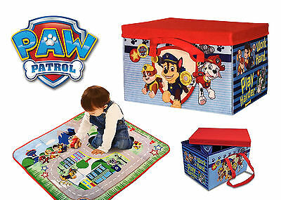 Paw Patrol Kids Storage Box Toy Chest For Bedding Laundry Chase Marshall Rubble