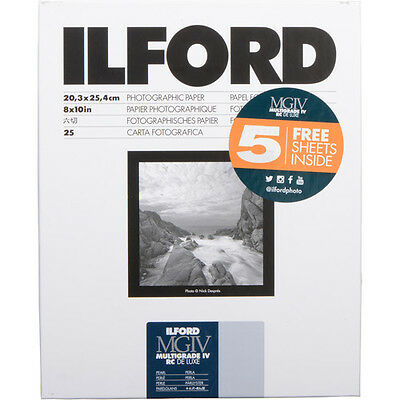 "Ilford Multigrade IV RC Deluxe Paper 8 x 10"" Pearl Surface, 30 Sheets"