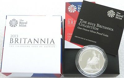 2013 Royal Mint Britannia £2 Two Pound Silver Proof 1oz Coin Box Coa