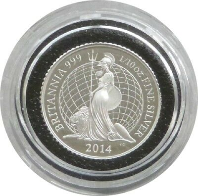2014 British Royal Mint Britannia 20p Twenty Pence Silver Proof Coin