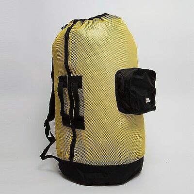 Natl Geographic Clam Shell Mesh Back Pack Deluxe 5 Pocket Yellow and Black