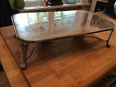 Sheffield Silver Plated Warming Tray/ Stand