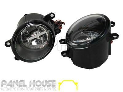 Uni Left+Right Pair TAPERED Fog Lamp Dual LED Type With Halo Driving Light NEW
