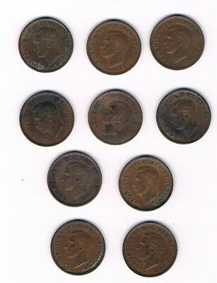Lot 65 Canadial Small Cents (10 Each)