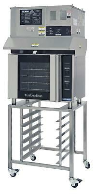Moffat E31D4/OVH-31D Electric Convection Oven Half Size 4 Pan w/ Stand & Hood