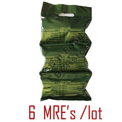 6 x Kazakhstan Army MILITARY MRE (DAILY FOOD RATION PACK) Emergency Food! 1,9kg