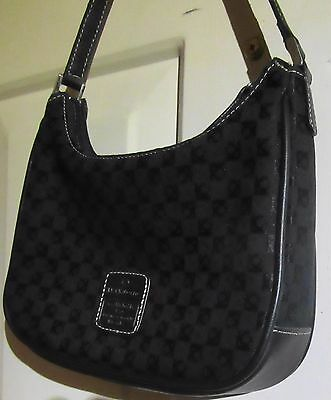 "Liz Claibourne Black Handbag, 8"",2"",5"",8"" Small, PVC Zip Closure 2 Outer Pockets"