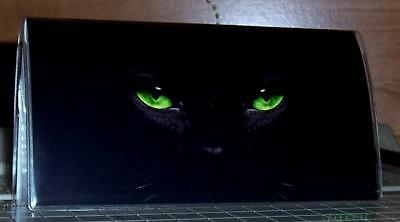 Personalized BLACK CAT GREEN EYES  Checkbook Cover Gift Ideas! FREE SHIPPING