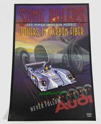 AUDI R8 Some Rulers in Carbon Fiber 2003 ALMS Champion poster Brand New