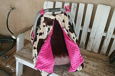 Outstanding Baby Infant Car Seat Canopy Cover Brown Cow Horse Print And Frankydiablos Diy Chair Ideas Frankydiabloscom