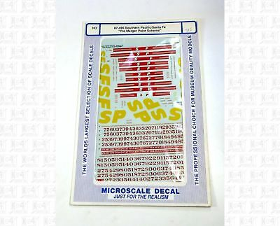 Model Trains HO **** Santa Fe & Southern Pacific ***** 87-496 Decals