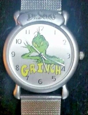 DR. SEUSS TICK TOCKING TIME TICKERS THE GRINCH  WATCH 1997 *with new battery
