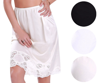 New Women's Premium Illusion Classic Half Slip Skirt With Lace Trim 1017/1817
