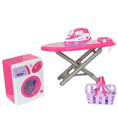COLORTREE Housekeeping Playset Electric Iron & Washing Machine for Kids