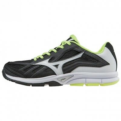 (12 B(M) US, Black/White) - Mizuno Women's Players Training Shoe. Free Delivery