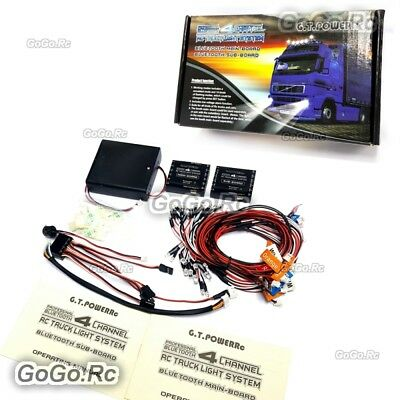 GT Power 4 Channel Bluetooth Professional LED Lighting System For RC Car Truck