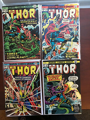 MARVEL THE MIGHTY THOR (volume 1)  #227 228 229 & 230 F to VF (1974)