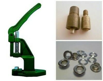 Eyelet press + Tool + rust-free (Brass), Rivets for Leather, Fabric, Felt