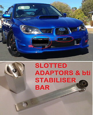 Subaru Wrx/sti Complete Kit Number/licence Plate Relocation- 01-07 Incl Delete!