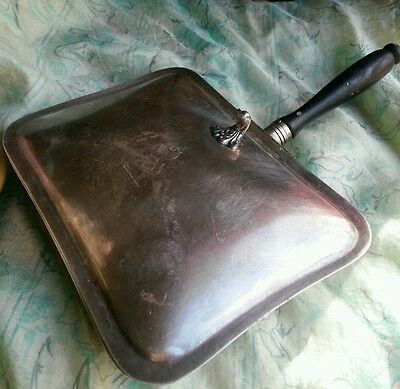 Vtg F.B.Rogers Silver on Copper. Fighting Lion charge. Silent Butler Crumb Tray