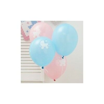 (2, AA) - 2x Tiny Feet Baby Shower Party Balloons x 8. Brand New