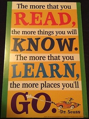 Dr. Seuss Read More Learn Know Go 8.5 x 12 Cardboard Poster