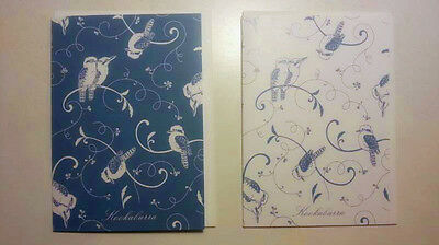 Jeremy Boot Blue & White Kookaburra Gifts 6 Note Cards And Envelopes Pack