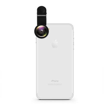 3in1 Wide Angle Fish Eye Macro Clip On Phone Camera Lens Kit For iPhone Samsung