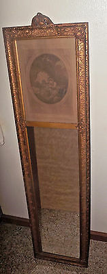 Antique French Gesso Trumeau Mirror