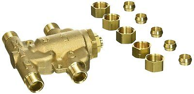 Watts 0204143 USG-B-M2 Under Sink Guardian Thermostatic Mixing Valve, 3/8 Brass
