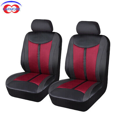 new arrival Delux faux leather car seat covers 2 fronts set high quality strong