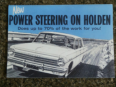 Holden Eh Power Steering Sales  Brochure ''rare'' 100% Guarantee.