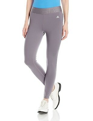 (Small, Trace Grey) - adidas Golf Women's Range wear Cropped Leggings