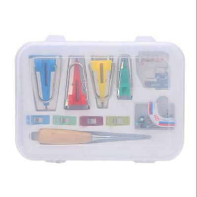 Fabric Bias Tape Maker Kit Set For Quilting Awl and Binder Foot Sewing Tools