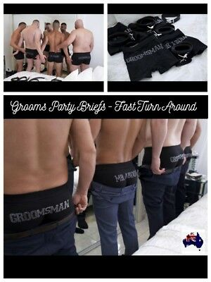 **Wedding Grooms Party Brief Jocks Pants Groomsman Best Man Father Page Boy Gift