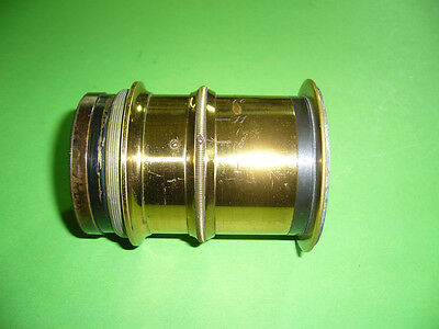 212K03 Altes Messing Objektiv, Linse, vintage brass lens, f  8 11 16 22 32 44 64
