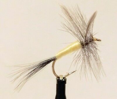 16 available 14 3 X PALE MORNING DUN DRY TROUT FLIES  sizes 12