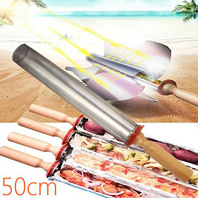50cm Tray Smokeless Portable Stove Solar Cooker Oven Camping BBQ Cooking Grill