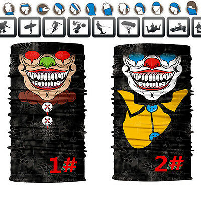 Bandana Face UV Shield Mask Fishing Headwear Biker Neck Tube Scarf Skull Zombie