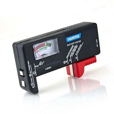 AA/AAA/C/D/9V/1.5V Universal Button Cell Battery Volt Tester Checker BT-168 MN