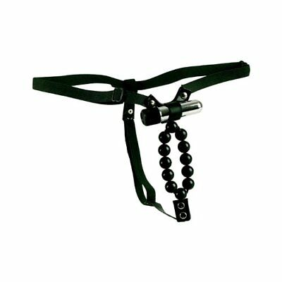 California Exotics Vibrating Lover's Thong With Beads