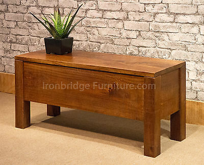 Rustic Farm Solid Mango Wood Dining Bench Trunk Ideal Shoe Storage in Hallway