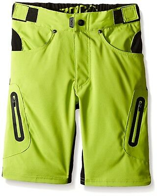 (X-Large, Atomic) - Zoic Junior Ether Bike Shorts. Free Delivery