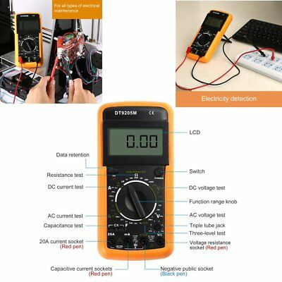 Electrical LCD Digital Multimeter Ohmmeter Multi OHM Tester AC DC Voltmeter SZ
