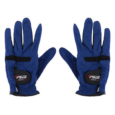Men Breathable Golf Gloves Right Left & Right Hand Microfiber Cloth Abrasion
