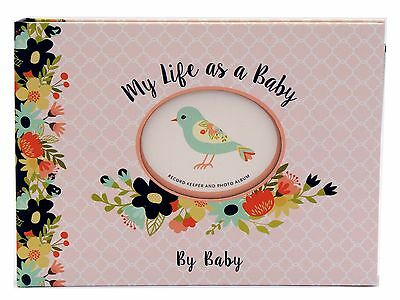 Baby Girl  Record Keeper Book Photo Album Newborn Gift Journal Keepsake
