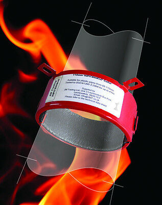 "Intumescent Fire Rated Pipe Collars 4"" 110mm - 4 Hour Rating - 2MT Heatshield"