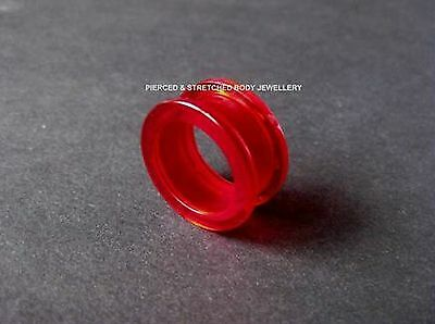 20mm Red Tunnel with Screw Fit Back - Tunnels & Plugs