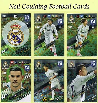 Panini FIFA 365 2018 ☆ REAL MADRID ☆ Fans & Team Mate Cards #118 to #135